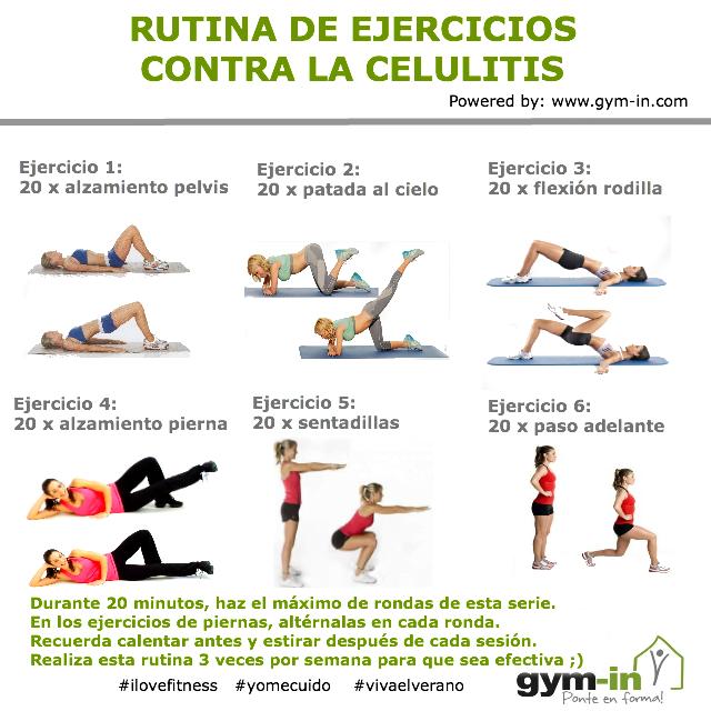 6 ejercicios de gluteos y piernas