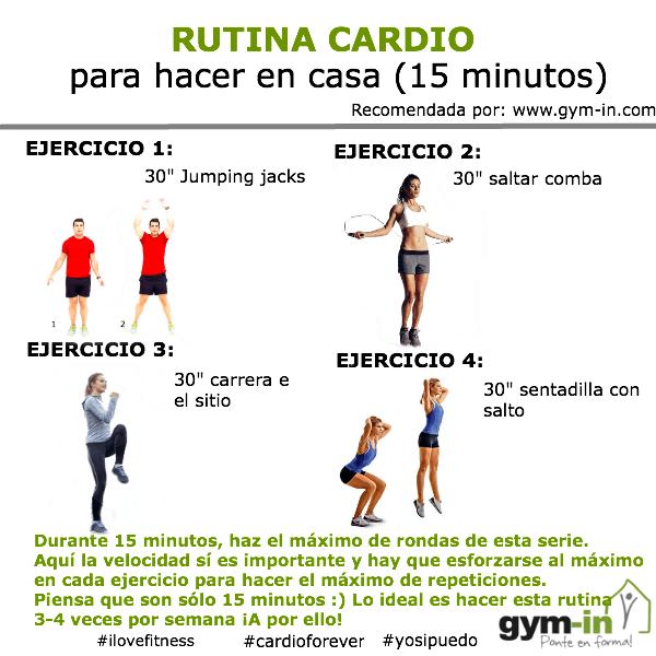 Rutina Cardio Para Hacer En Casa 15 Minutos Gym In