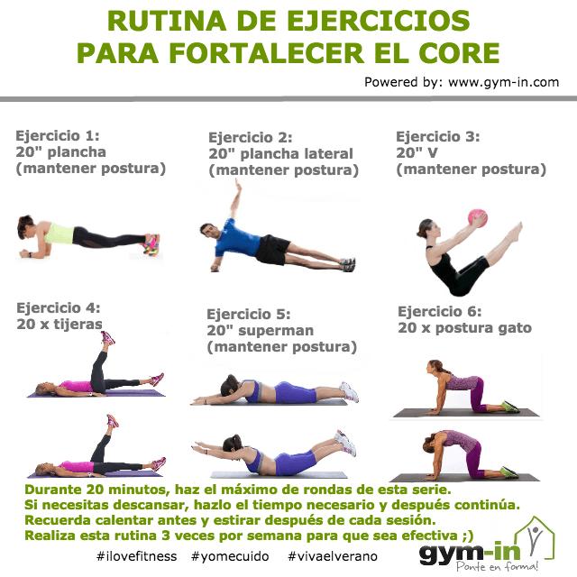 De gym para ejercicios rutina en mujeres el