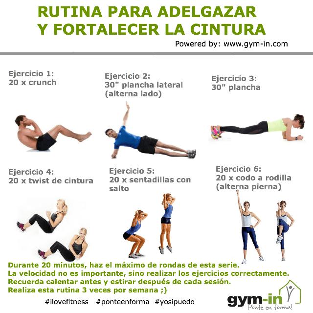 ejercicios para la cintura en casa